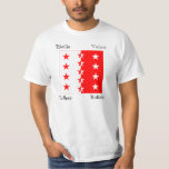 Valais Four Language Swiss Canton Flag T Shirt