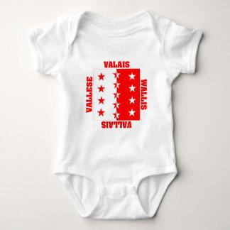 Valais Switzerland Canton Flag Infant Creeper