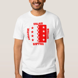 Valais Switzerland Canton Flag T Shirt