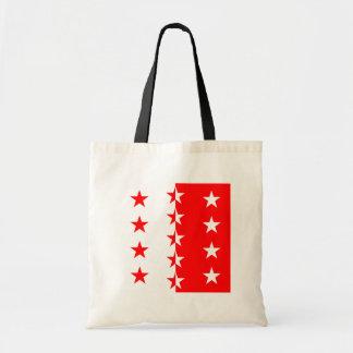 Valais, Switzerland flag Tote Bag