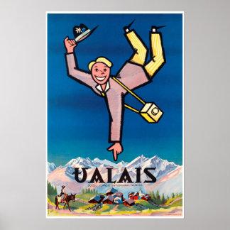 Valais,Switzerland,Suisse,Ski Poster