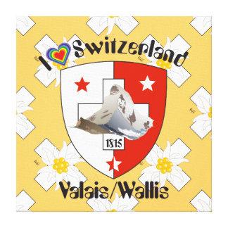 Valais Valais Switzerland Suisse canvas