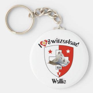 Valais, Wallis Suisse Suiza llavero/