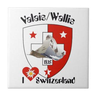 Valais, Wallis Suiza baldosa/ Tejas