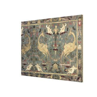 Valance of Renaissance design, 17th century (silk) Canvas Print