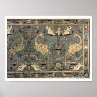 Valance of Renaissance design, 17th century (silk) Poster