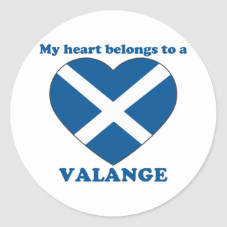 Valange Round Sticker