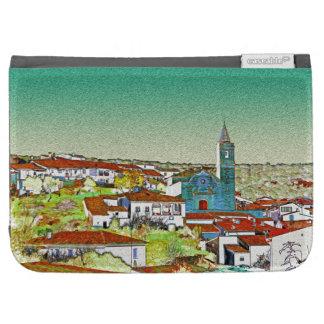 Valdelarco en multicolor, iglesia y casas serranas