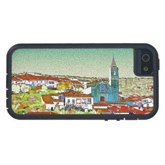 Valdelarco en multicolor, iglesia y casas serranas funda iPhone SE/5/5s