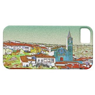 Valdelarco en multicolor, iglesia y casas serranas funda para iPhone SE/5/5s