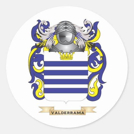 Valderrama Family Crest (Coat of Arms) Classic Round Sticker