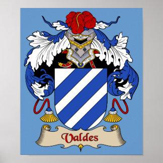 Valdes Coat of Arms Heraldic Print