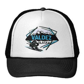 Valdez Alaska blue black snowboard art hat
