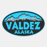 Valdez Alaska blue oval stickers