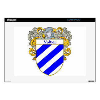 """Valdez Coat of Arms/Family Crest 15"""" Laptop Decal"""