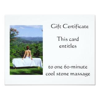 Vale al aire libre del masaje invitación 10,8 x 13,9 cm
