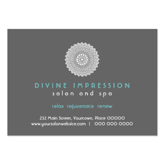Vale azul de la impresión divina plantillas de tarjeta de negocio