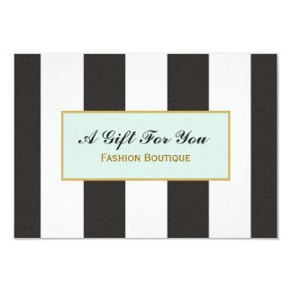 Vale blanco y negro del boutique de las rayas comunicados personalizados