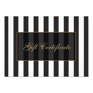 Vale blanco y negro del salón de las rayas invitación 11,4 x 15,8 cm