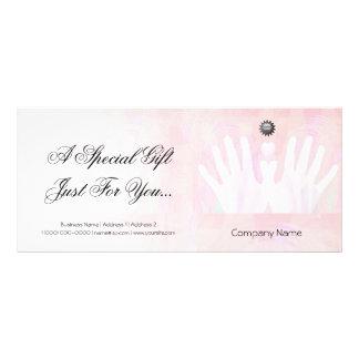Vale curativo del masaje de las manos tarjeta publicitaria personalizada