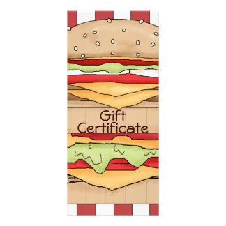 Vale de la hamburguesa tarjetas publicitarias a todo color