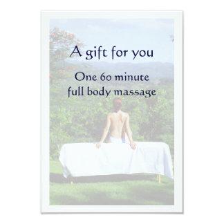 Vale del masaje invitación 8,9 x 12,7 cm