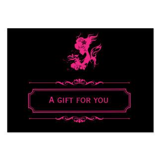 Vale del salón (de color rosa oscuro) tarjetas de visita
