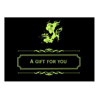 Vale del salón (verde verde oliva oscuro) plantillas de tarjetas de visita