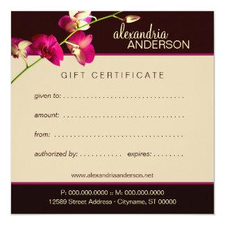 Vale elegante de la orquídea invitacion personalizada