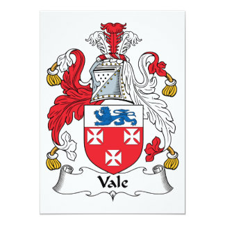 Vale Family Crest 5x7 Paper Invitation Card
