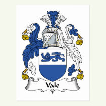 Vale Family Crest Postcard