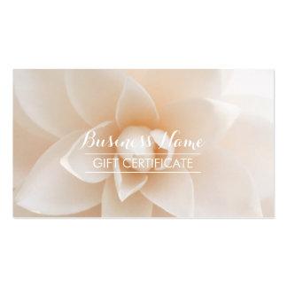 Vale floral blanco con clase tarjetas de visita