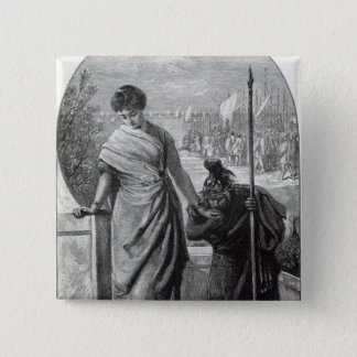 Vale, from 'Leisure Hour', 1888 Pinback Button
