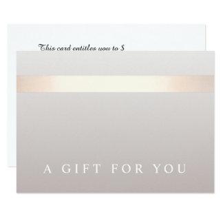 """Vale moderno rayado del oro color de rosa elegante invitación 3.5"""" x 5"""""""