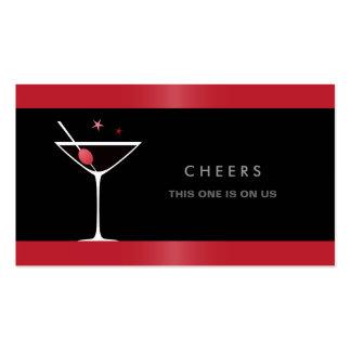 Vale negro elegante de la bebida del vidrio de cóc tarjeta de visita