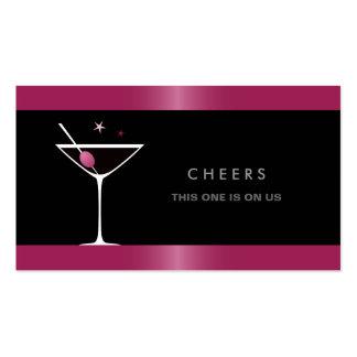 Vale negro elegante de la bebida del vidrio de tarjetas de visita