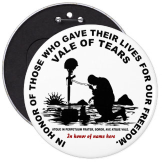 Vale of Tears Catullus Please Read About Design Pinback Button