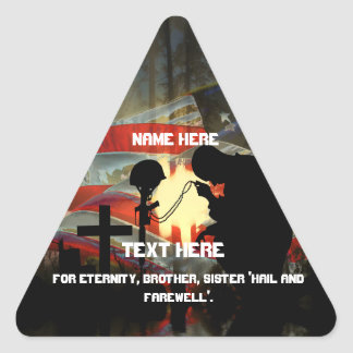 Vale of Tears Remembrance Triangle Sticker