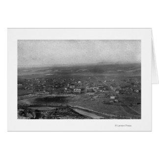 Vale, Oregon Birds Eye View of Town Photograph Card