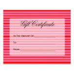 vale rayado rosado rojo tarjetas informativas
