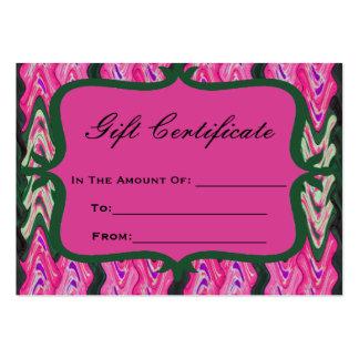 Vale verde rosado brillante plantillas de tarjetas personales