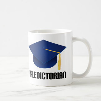 Valedictorian Blue Grad Hat Mug