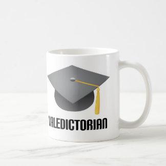 Valedictorian Grey Grad Hat Coffee Mugs