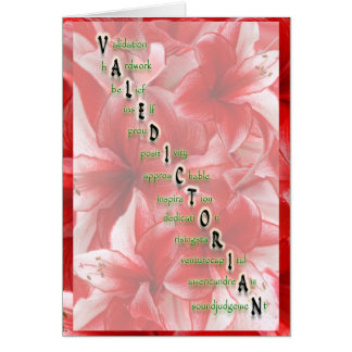 Valedictorian Stationery Note Card