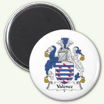 Valence Family Crest Magnet