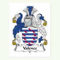 Valence Family Crest Postcard