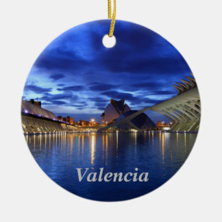 Valencia by night ornament