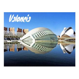 Valencia, ciudad de artes y de ciencias tarjeta postal