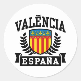 Valencia Espana Classic Round Sticker