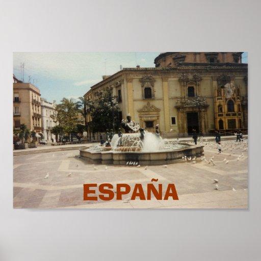 Valencia España Póster